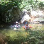 渓流で避暑ラン